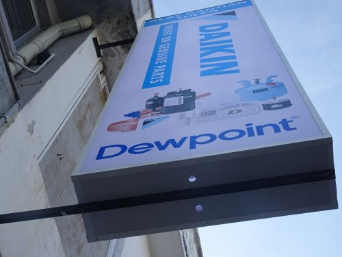 NEW DAIKIN SPARE PART GENUINE PARTS SIGNBOARD INSTALLED ON 26-2-2021 TIME 3.00PM