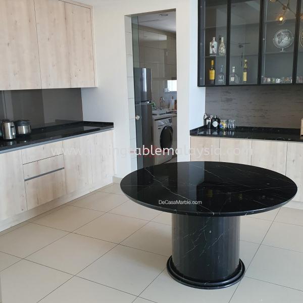 Luxury Black Marble Table | Black Marquina | 4-6 Seaters
