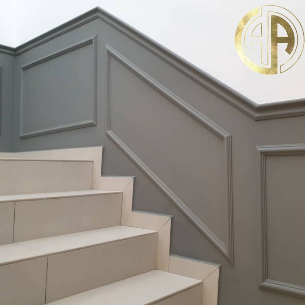 fr002 Staircase Modern Wall Decoration and Wainscoting From Malaysia