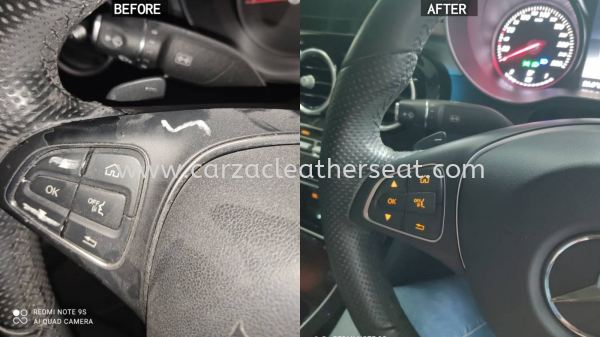 MERCEDES BENZ E200 STEERING WHEEL SPRAY