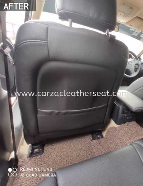 LEXUS IS 250 SEAT REPLACE SYNTHETIC LEATHER FROM BEIGE TO ALL BLACK COLOUR