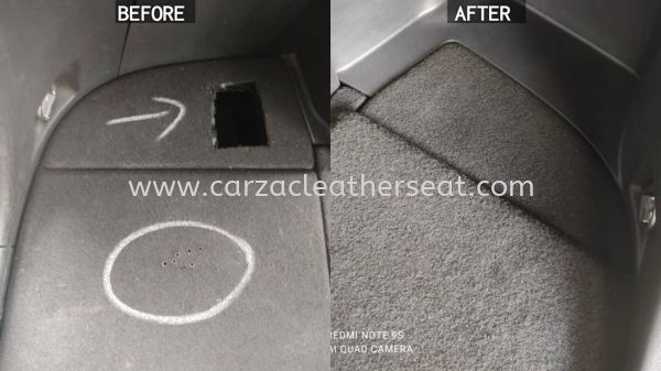 TOYOTA WISH REAR BOOT SPRAY AND REPLACE CARPET