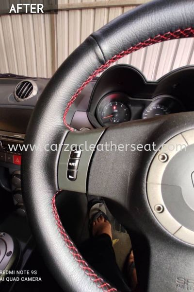 SATRIA NEO STEERING WHEEL REPLACE SYNTHETIC LEATHER