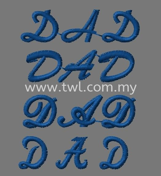 Embroidery Font Style Selection