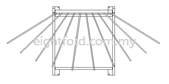 Mobile Lead Apron Hanger Rack 6