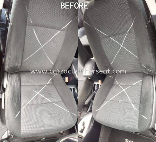 TOYOTA VIOS GX SEAT REPLACE FROM FABRIC TO TRD SPORT SYNTHETIC LEATHER