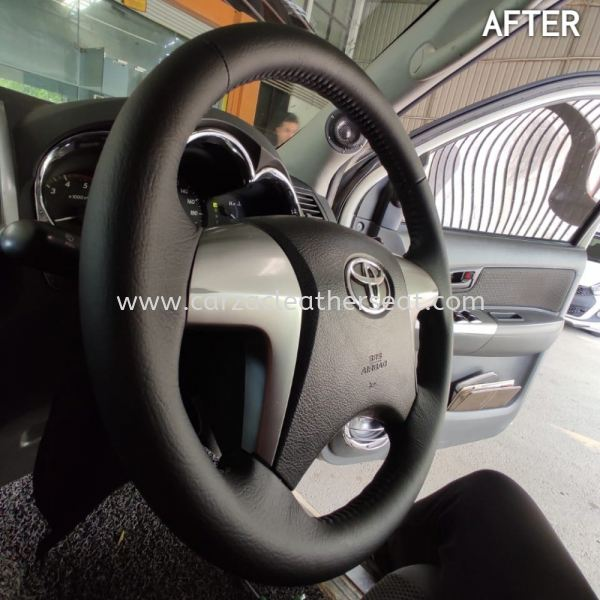 TOYOTA HILUX STERING REPLACE ORI LEATHER/STERING BALUT LEATHER