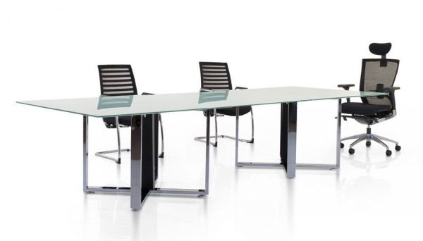 Rectangular tempered glass conference table with chrome cassia leg Meeting table Malaysia, Selangor, Kuala Lumpur (KL), Seri Kembangan Supplier, Suppliers, Supply, Supplies   Aimsure Sdn Bhd