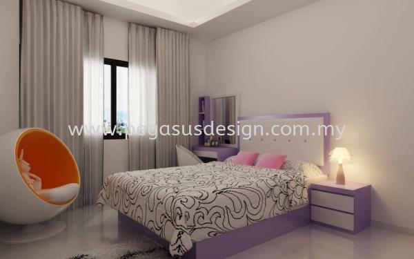Bedroom Design Johor Bahru (JB), Taman Universiti, Skudai Contractor, Service | Pegasus Design & Build Sdn Bhd