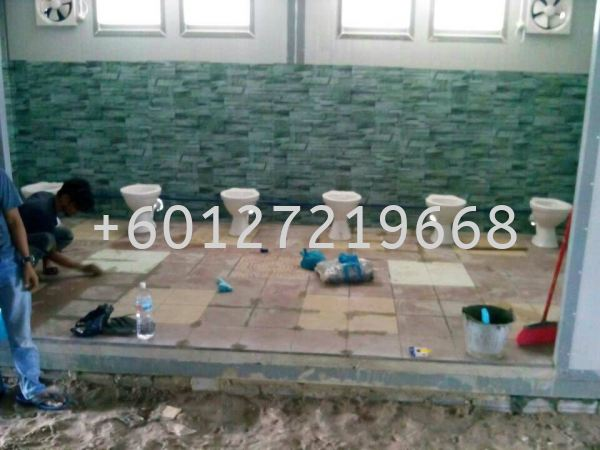 Toilet labour accommodation CABIN & PRE-FABRICATED HOUSE Malaysia, Johor Bahru (JB), Pasir Gudang Manufacturer, Supplier, Supply, Supplies | AMP POWER HOLDINGS SDN BHD