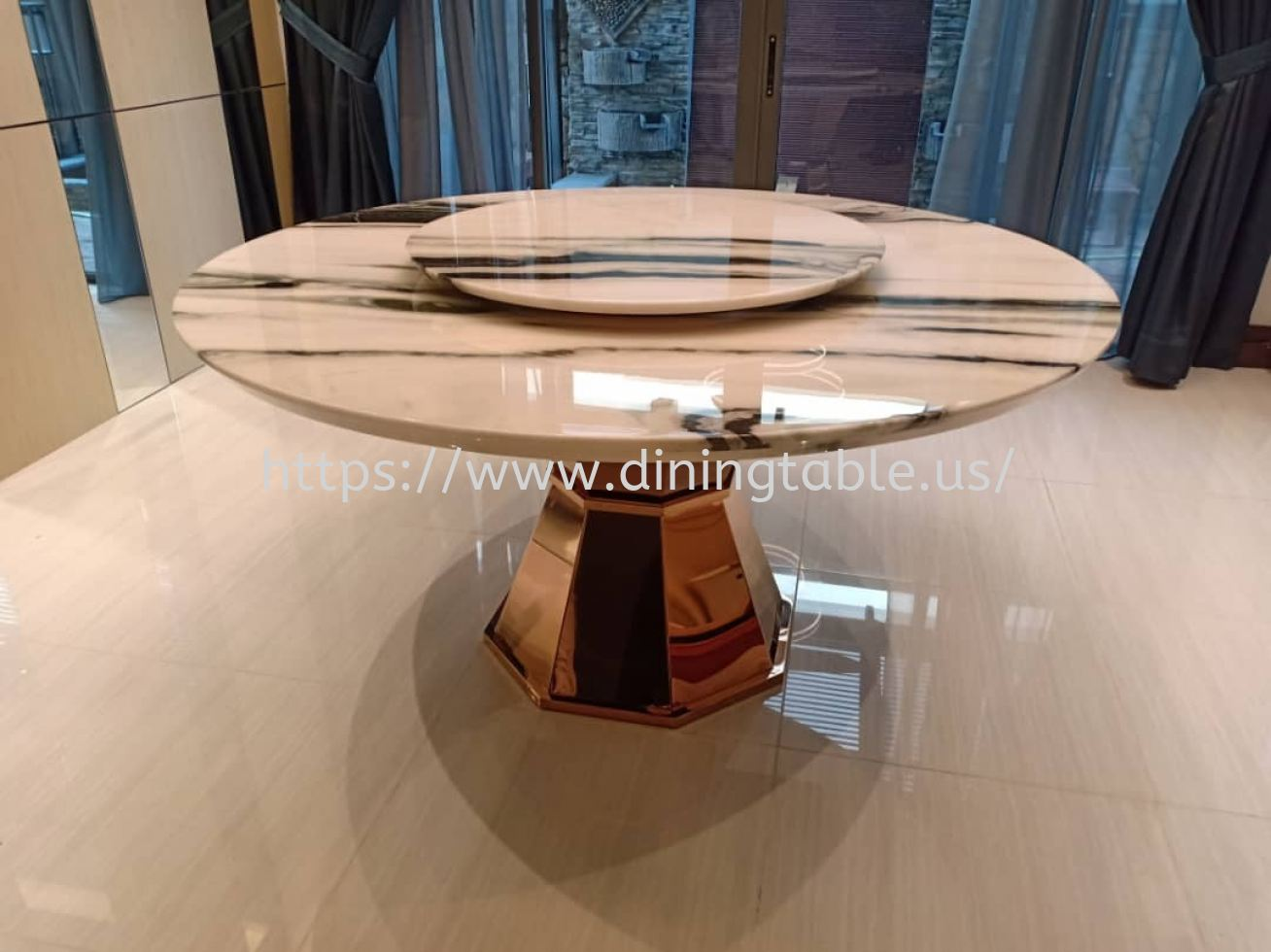 White Marble Dining Table - Round Dining Table