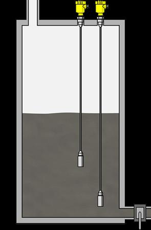 Density measurement in mud tanks