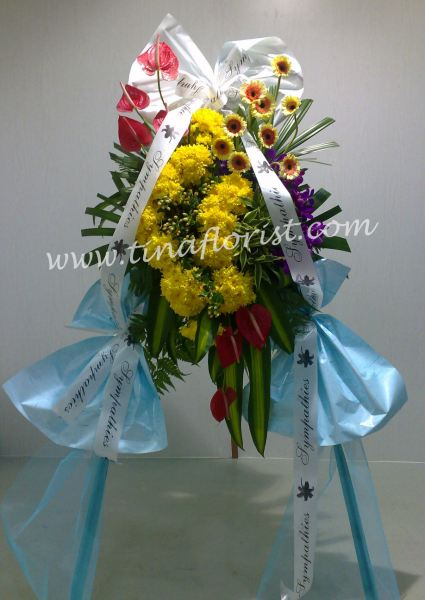 CW 010 Wreath Condolences Johor Bahru (JB), Malaysia, Skudai Supplier, Suppliers, Supply, Supplies | Tina Floral Art Academy