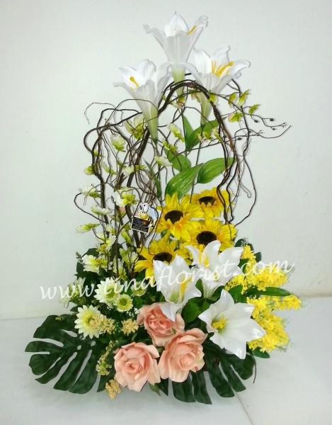 TA 030 Artificial Flower Table Arrangement Johor Bahru (JB), Malaysia, Skudai Supplier, Suppliers, Supply, Supplies | Tina Floral Art Academy