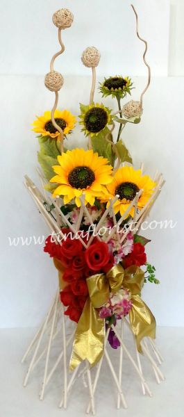 TA 028 Artificial Flower Table Arrangement Johor Bahru (JB), Malaysia, Skudai Supplier, Suppliers, Supply, Supplies | Tina Floral Art Academy