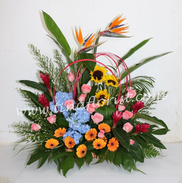 TF 007 Fresh Flower Table Arrangement Johor Bahru (JB), Malaysia, Skudai Supplier, Suppliers, Supply, Supplies | Tina Floral Art Academy