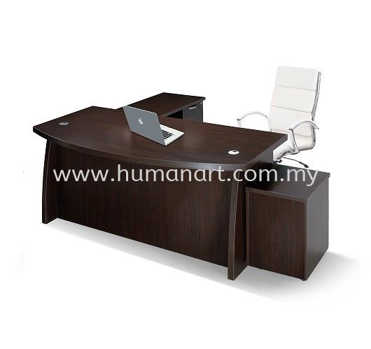 QX1800 DIRECTOR TABLE WITH 1 SIDE CABINET & 1 DRAWER 1D1F QX Series Director and Manager Table Kuala Lumpur (KL), Malaysia, Selangor Supplier, Suppliers, Supply, Supplies | Human Art Office System