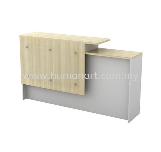 EXECUTIVE RECEPTION COUNTER WOODEN BASE B-SCT 1800 (L) MUP Series Executive Table Kuala Lumpur (KL), Malaysia, Selangor Supplier, Suppliers, Supply, Supplies | Human Art Office System