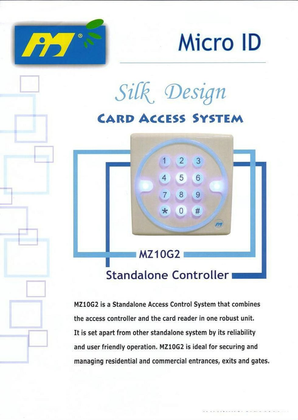 Mirco Id MZ10G2 Stand Alone Controller
