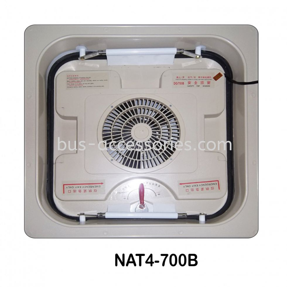 BUS VAN TRAILER ROOF HATCH WITH FAN & MOTOR Bus Roof Hatch Emergency Exit With Fans Malaysia Thailand Singapore India Indonesia