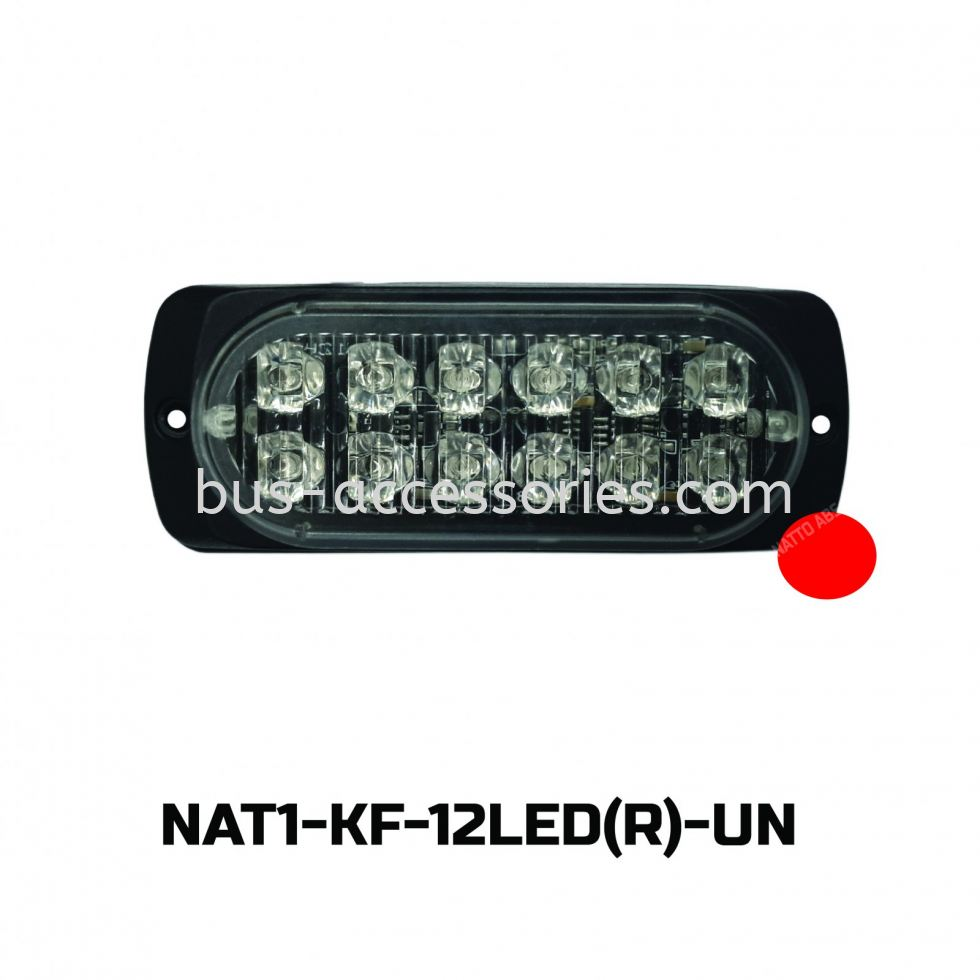 FLASH LIGHT 12LED(12-24V)RED