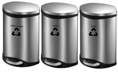 EH Stainless Steel Foot Pedal Recycle Bin
