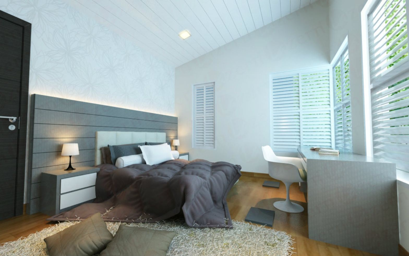Master Bedroom in height ceiling