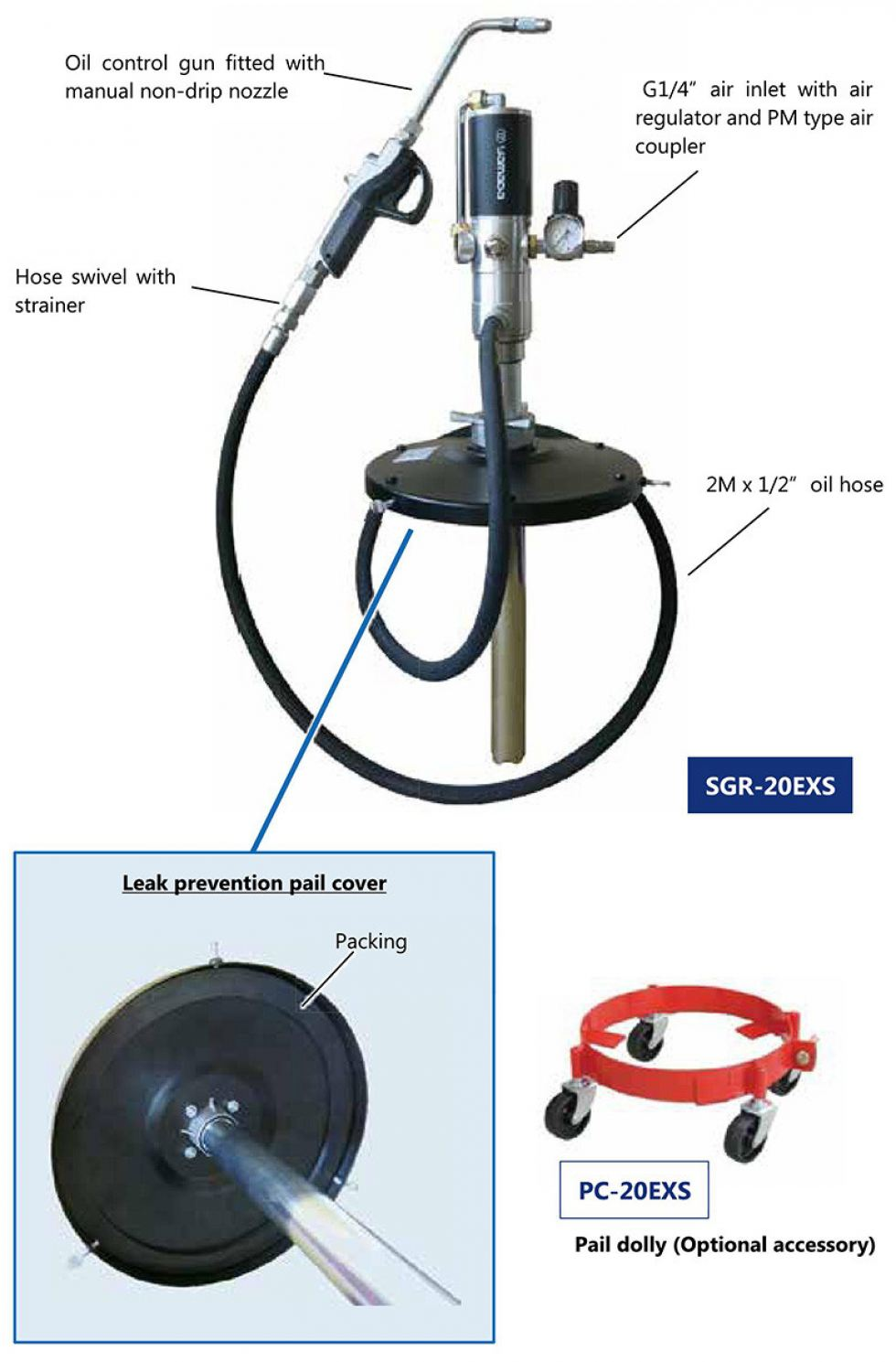 Economical Air Operated Grease Pump (SGR-20EXS)