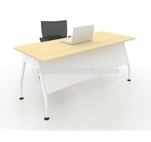 RECTANGULAR WRITING TABLE METAL A-LEG C/W STEEL MODESTY PANEL MAM 1575 MAPLE