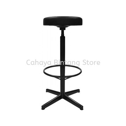 HIGH PRODUCTION STOOL CHAIR C/W 4 PRONG EPOXY BLACK METAL BASE PS3