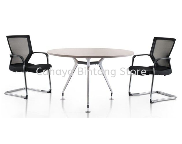 ABIES ROUND DISCUSSION TABLE (CHROME)