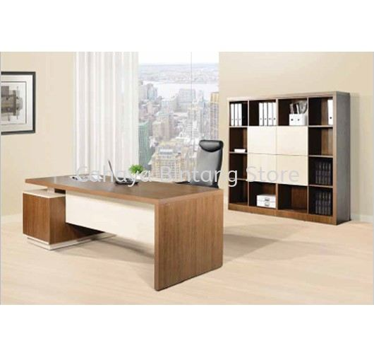 FERNI EXECUTIVE DIRECTOR OFFICE TABLE WITH SIDE OFFICE CABINET & HIGH OFFICE CABINET