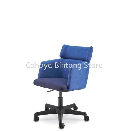 ANTHOM EXECUTIVE MEDIUM BACK FABRIC CHAIR C/W POLYPROPYLENE BASE AT6631F-32
