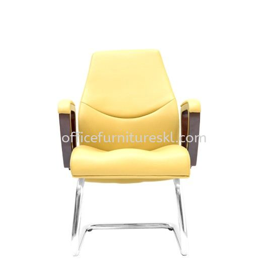 AMBER DIRECTOR VISITOR LEATHER OFFICE CHAIR C/W CHROME CANTILEVER BASE