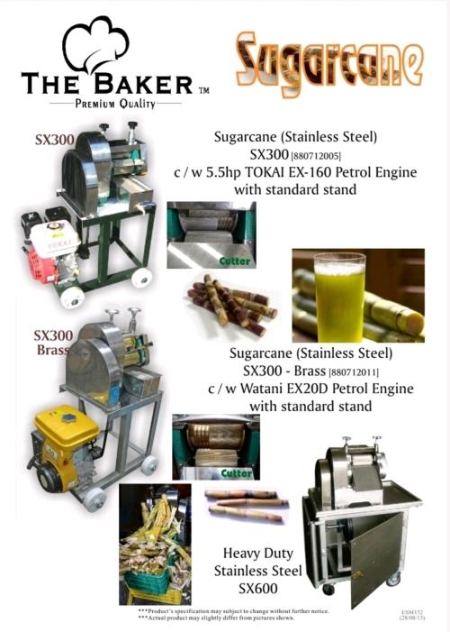 The Baker SX300B Brass Sugar Cane Machine