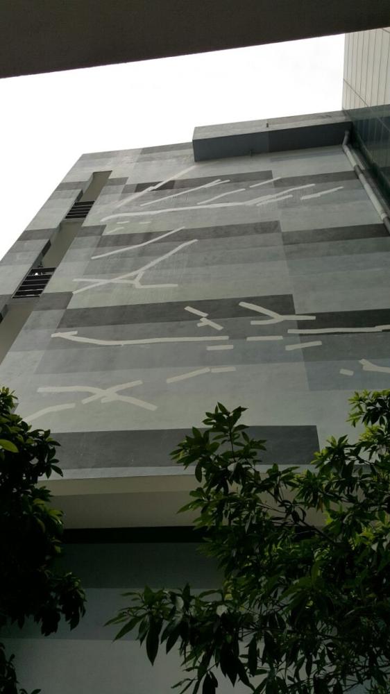 External wall crack