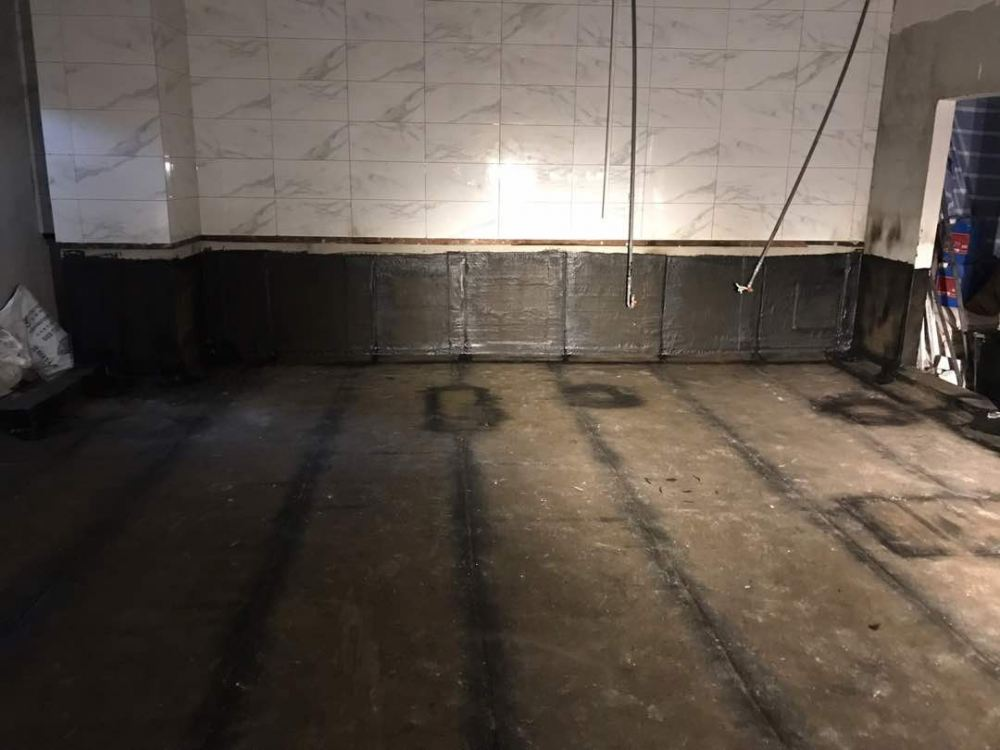Applied Torch On Membrane at Kitchen area