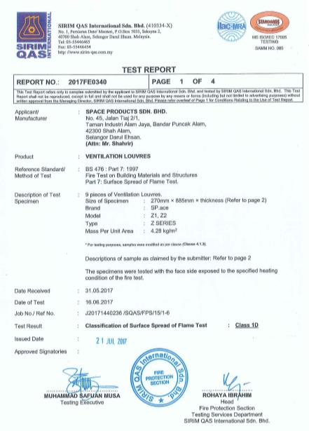 Certificates SIRIM