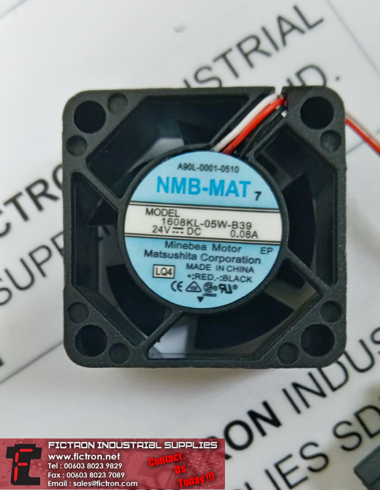 1608KL-05W-B39 NMB MAT FAN Supply,By Fictron Industrial Supplies