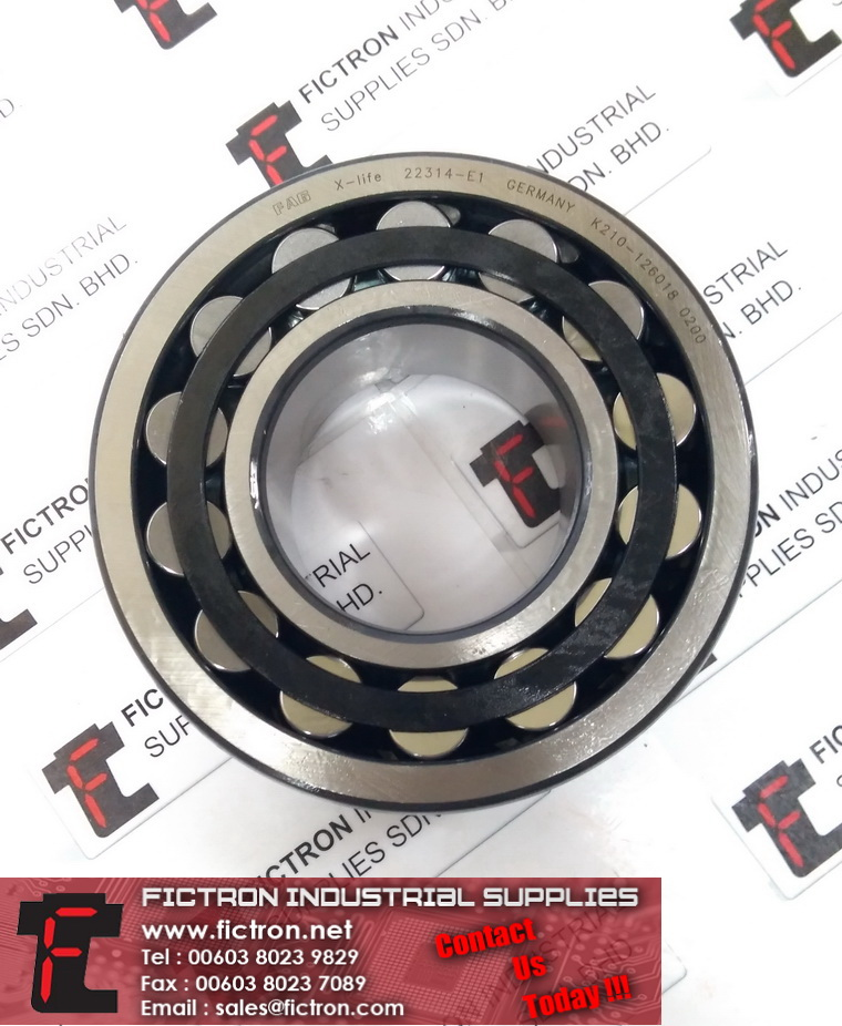 22314-E1 22314E1 K210-126018 0200 X-Life FAG Spherical Roller Bearing Supply Fictron Industrial Supplies