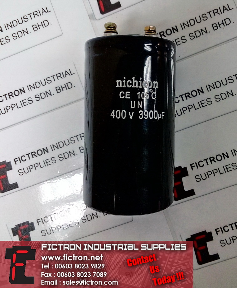 400V 3900uF NICHICON 105C Electrolytic Capacitor Supply Fictron Industrial Supplies