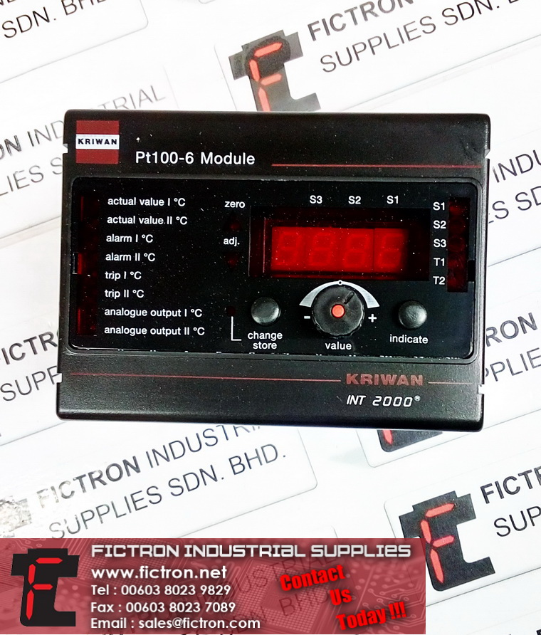 52G112S22 KRIWAN Switching Amplifier PT100-6 Switch