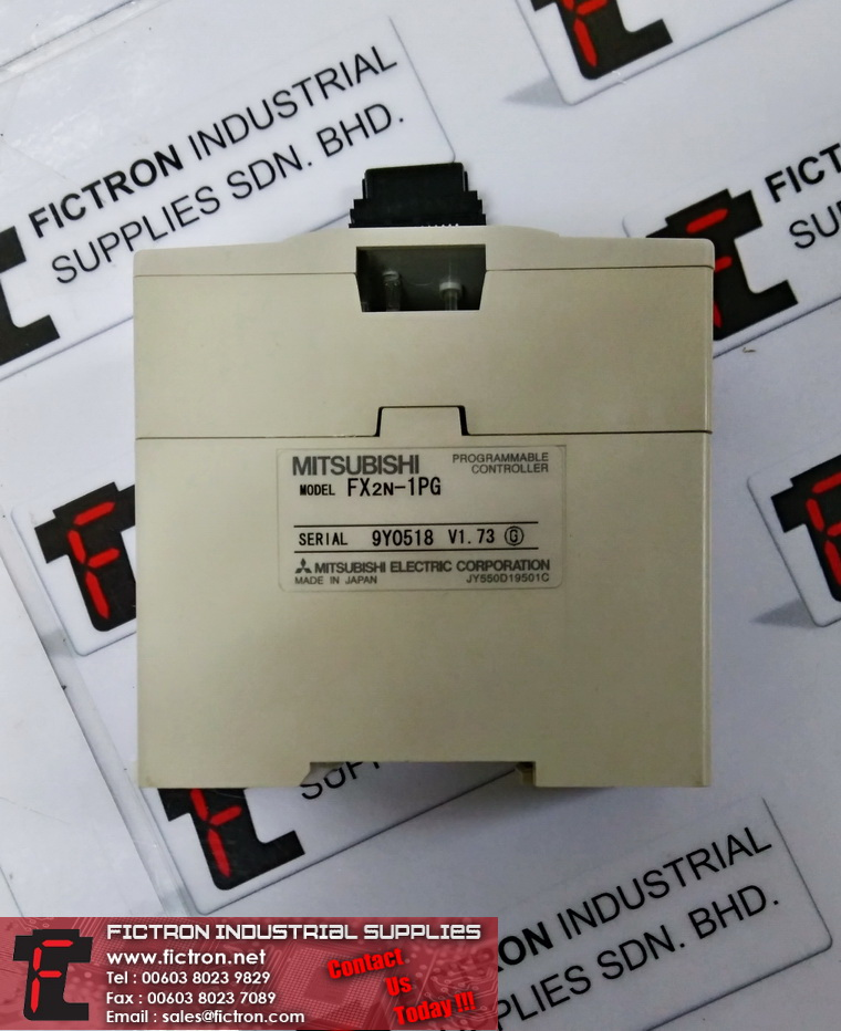FX2N-1PG MITSUBISHI PROGRAMMABLE CONTROLLER Supply,By Fictron Industrial Supplies