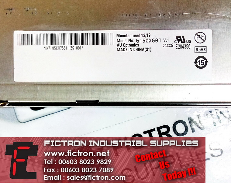 G150XG01 V.1 59.15M10.008G AUO LCD Panel Supply Malaysia Singapore Thailand Indonesia Philippines Vietnam Europe & USA