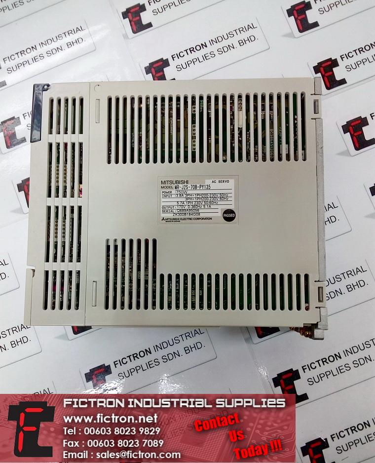 MR-J2S-70B-PY135 MRJ2S70BPY135 MITSUBISHI MELSEC 750W 230VAC AC Servo Amplifier Supply & Repair Fictron Industrial Supplies