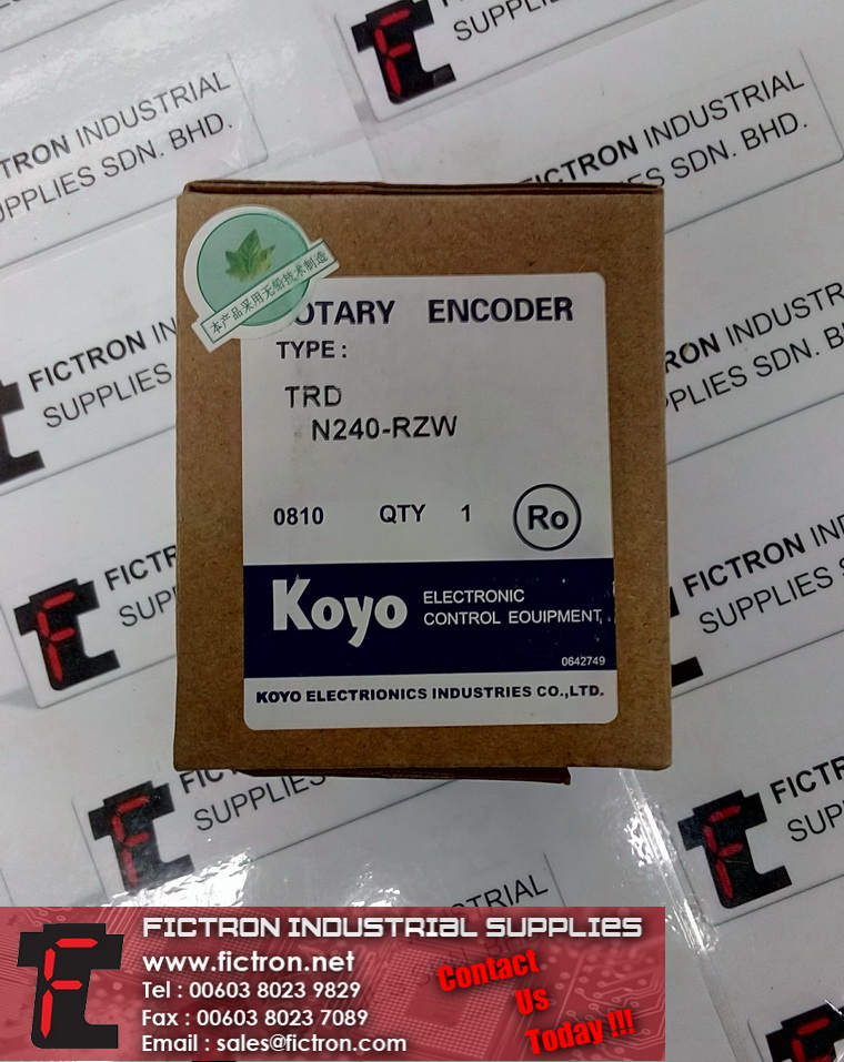 TRD N240-RZW TRDN240RZW KOYO Optical Rotary Encoder Supply Fictron Industrial Supplies
