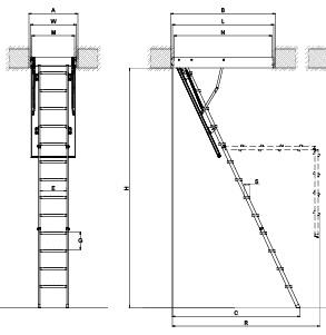 Lmk K Attic Ladder Fakro Ladder Fakro Johor Bahru Jb