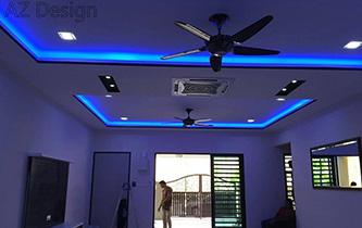 Kitchen cabinet selangor interior design services puchong for Plaster ceiling design price
