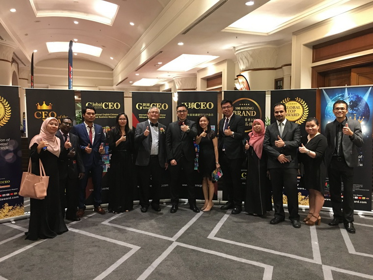 Global Top Brand Excellence Award and Asia Entrepreneur Of The Year Award presented to Fictron by YB Datuk Dr. Abu Bakar Bin Mohamad Diah. Ministry of Science, Technology And Innovation