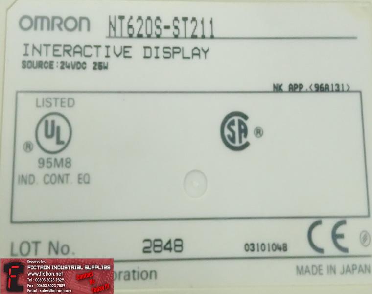 Nt620s St211 Nt620sst211 Omron Interactive Display 24vdc 25w Hmi